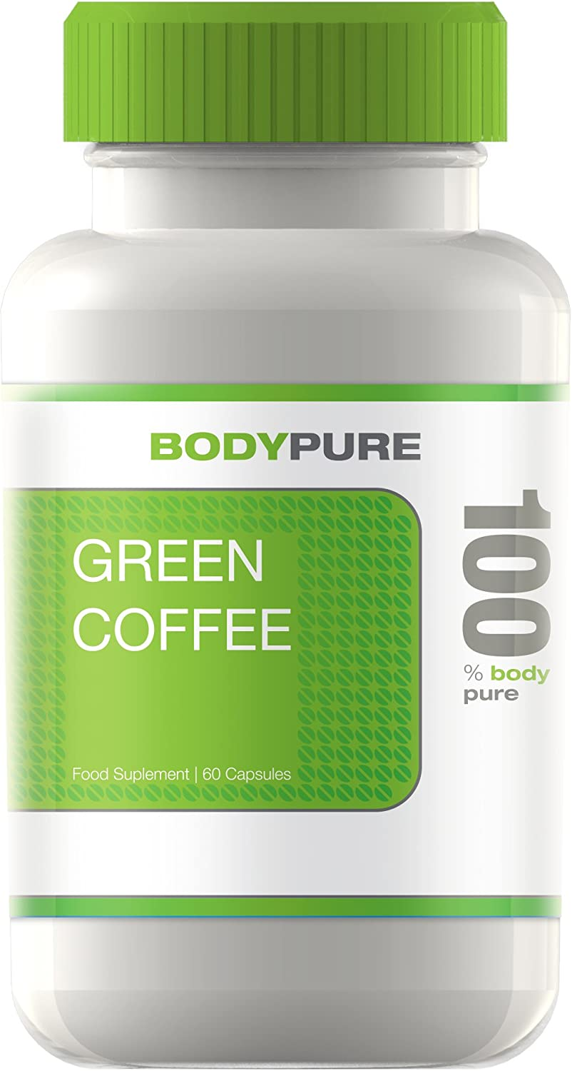 Body Pure Green Coffee Bean Extract Platinum Fat Burner And Weight Loss Supplement With Zero Side Effects Ultra Max Strength Gca 50 Chlorogenic Acids Contains 60 Capsules Of Pure