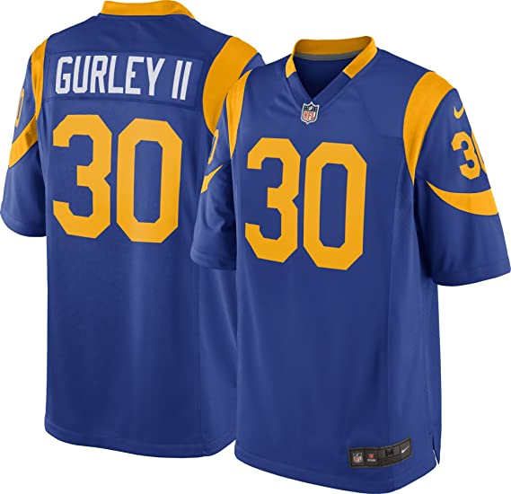 sale retailer c4ca3 6b7b0 NIKE Todd Gurley II Los Angeles Rams NFL Youth Alternate Royal Blue/Yellow  On-Field Jersey (Size Large 14-16)
