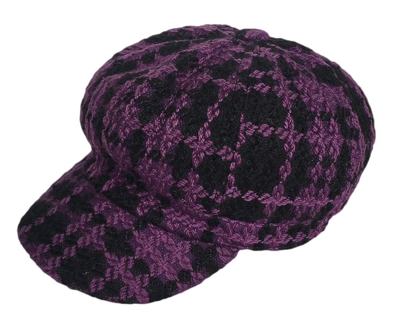 Bigood Women Ladies's Winter Vintage Beret Hunting Hat Newsboy Octagonal Cap