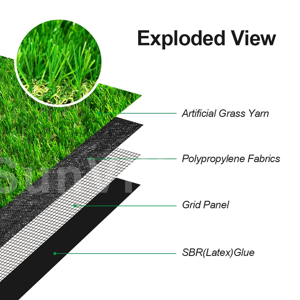 SunVilla SV7'X13' Realistic Indoor/Outdoor Artificial Grass/Turf 7 FT X 13 FT (91 Square FT) by SunVilla (Image #4)