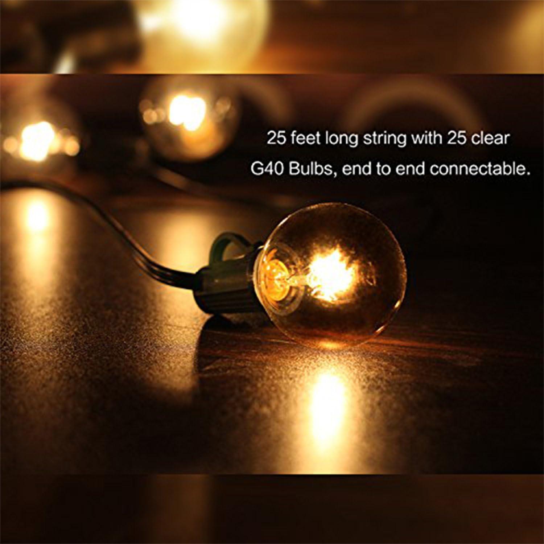 Give U 3M 9.8 pies de Cable de extensi/ón Impermeable para G40 al Aire Libre Luces de Cadena