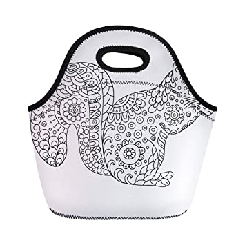 Semtomn bolsa de almuerzo Zentangle Squirrel Sketch para ...
