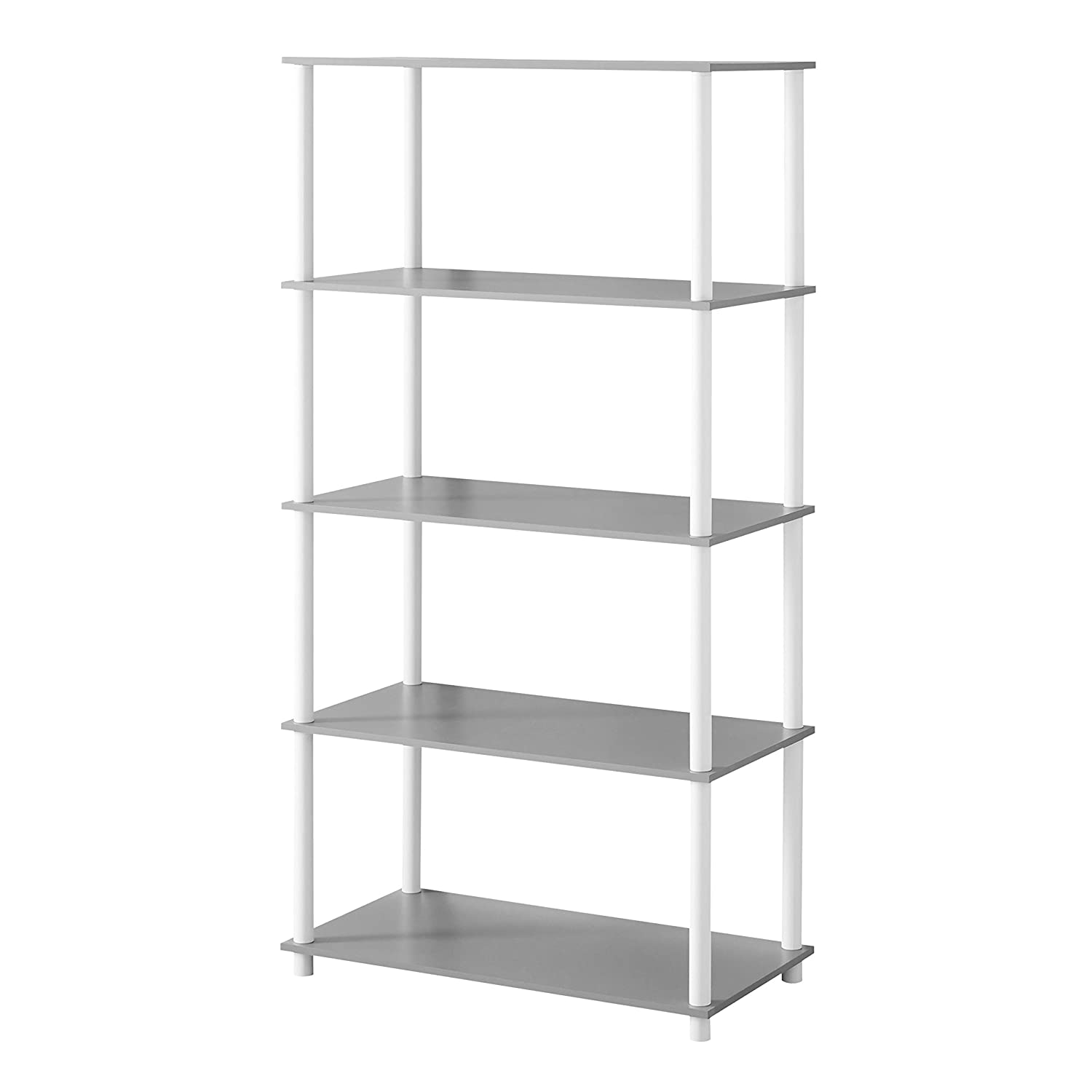 Mainstays No Tools Assembly Shelving Storage Unit 8-Cube, White