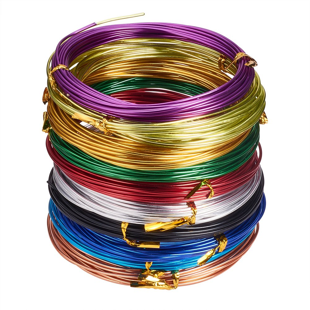 PandaHall Elite 10 Rolls Aluminum Craft Wire 12 Guage Flexible Artistic Floral Jewely Beading Wire 10 Colors for DIY Jewelry Craft Making Each Roll 32 Feet PH PandaHall AW-PH0001-01-2.0MM-WHPH