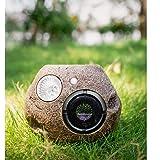 Solar Bluetooth Speakers Outdoor, Portable Bluetooth Speaker Waterproof Wireless for Patio Pool Garden Backyard Rock Shape