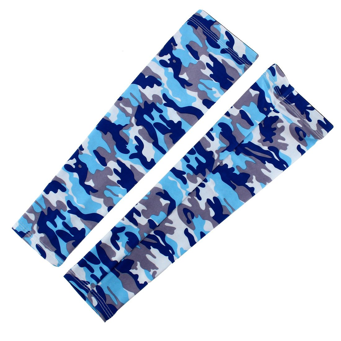 uxcell Polyester UV Protector Hands Cover Long Arm Glove Compression Outdoor Activities Skin Protection Cooling Sleeve Blue Pair a17050900ux0896