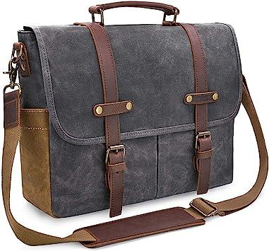 Vintage Briefcase Satchel Leather Laptop Messenger Bag Shoulder Men