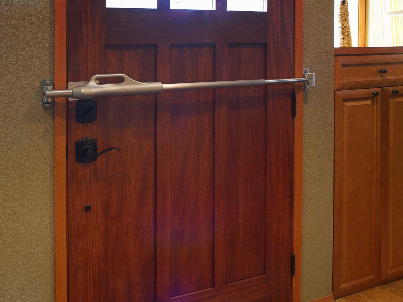 commercial door security bar. Amazon.com: LineBacker Home Door Security Bar-High Protection: Improvement Commercial Bar