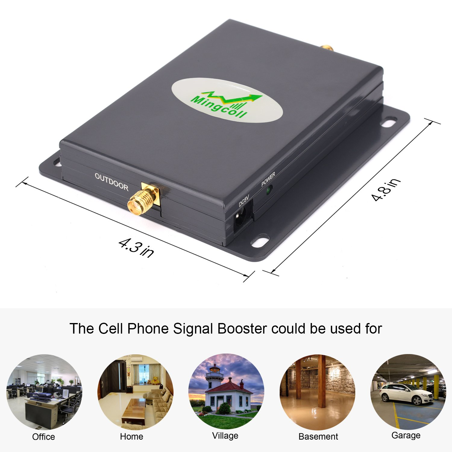 Amazon.com: Mingcoll ATT Cell Mobile Phone Signal Booster 700MHz Band 12/17 Cell Signal Amplifier Kit for Home (BA70-CYL): Cell Phones & Accessories