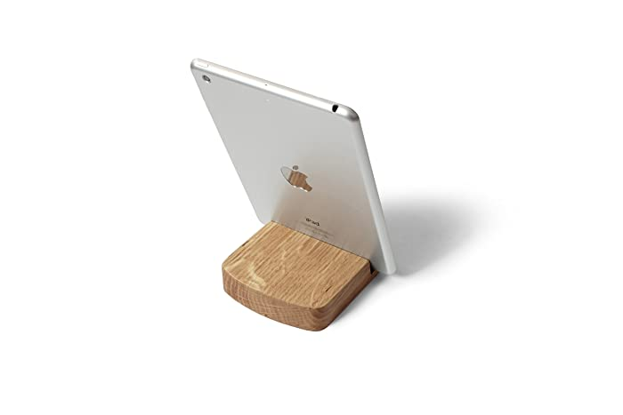 Awesome Wooden Ipad Stand Rounded Holder In Natural Oak Wood Home Interior And Landscaping Palasignezvosmurscom