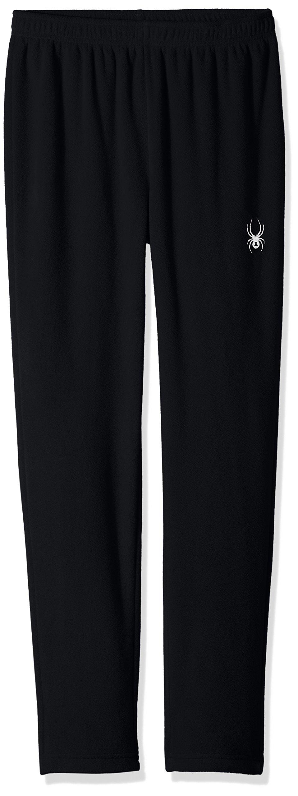 Spyder Boy's Momentum Fleece Pant, Black, Medium