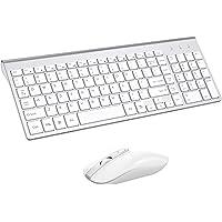 Wireless Keyboard Mouse Combo, Cimetech Compact Full Size Wireless Keyboard and Mouse Set 2.4G Ultra-Thin Sleek Design…