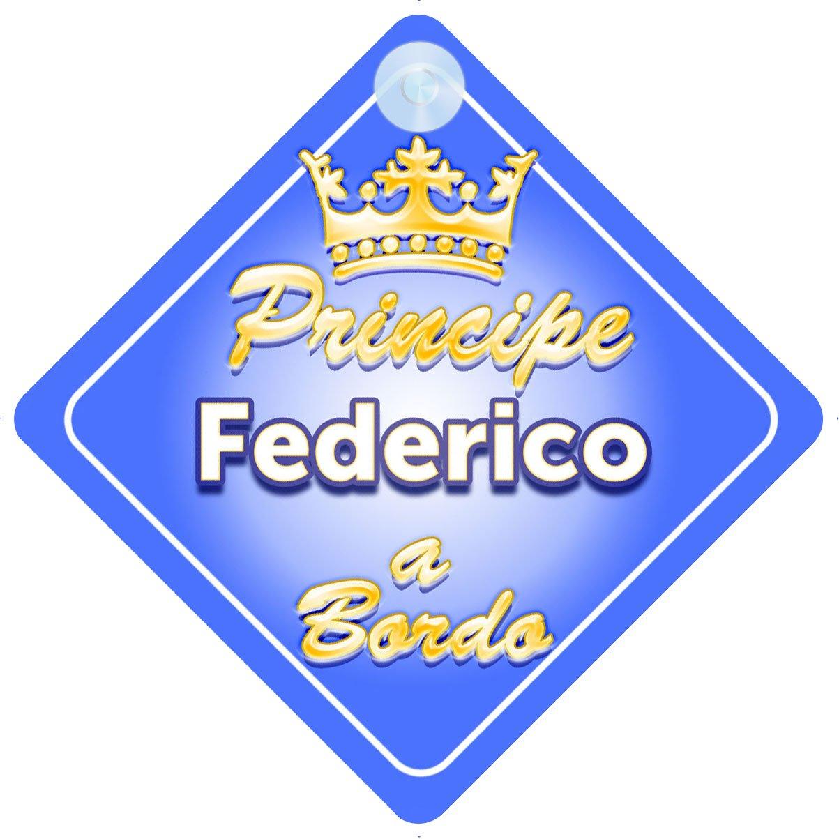 Corona (Crown) Principe Federico / adesivo bimbo / bambino / neonato a bordo per maschi principe / principino adesivo macchina Quality Goods Ltd