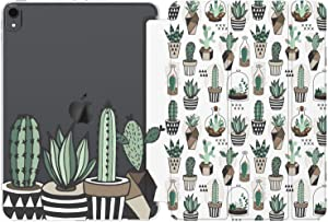 Cavka Case for Apple iPad 12.9 Pro 11 10.5 9.7 10.2 Air 3 2 Mini 5 4 3 2 1 2019 2018 2017 Cactus Plants Geometric Clear Cute Print Women Pattern Girl Watercolor Kawaii Smart Cover Potted