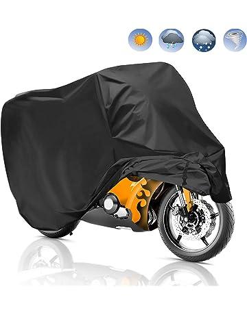 Migimi Funda para Motocicleta, Funda para Moto Impermeable Cubierta de la Moto 190T Cubierta Protectora