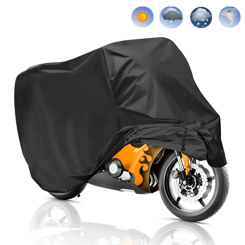 99545d338d1 Migimi Funda para Motocicleta, Funda para Moto Impermeable Cubierta de la  Moto 190T Cubierta Protectora