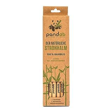 Pandoo 12er Pack Strohhalme Aus 100 Bambus Inklusive