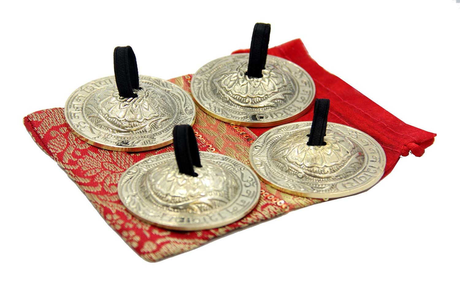 DharmaObjects Belly Dancing OM Namah Pro Finger Zills or Cymbals Dha-0142