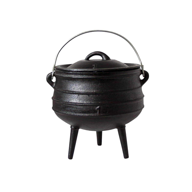 De Big BBQ potjie | südafr ikanischer Fonte de cuisson Pot | de Alternative au Dutch Oven | Plusieurs tailles au choix Potjie #1 (ca. 3 Liter) Big-BBQ