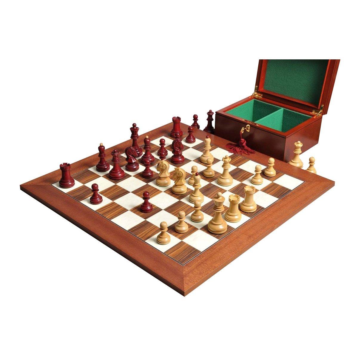 Dubrovnik チェスセット ボックス ボードコンビネーション ローズウッド 金メッキ B01MR34HBT