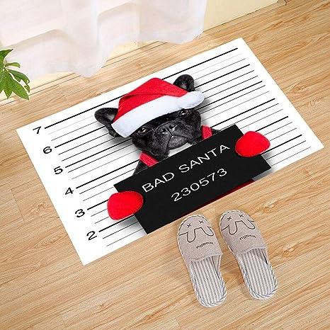 Bad Santa Dog Impermeable Bajo Perfil Estera de la Puerta ...