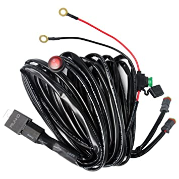 71xM6dGSpkL._SY355_ amazon com run d universal led light wiring harness kit, dual universal wiring harness connector at cita.asia