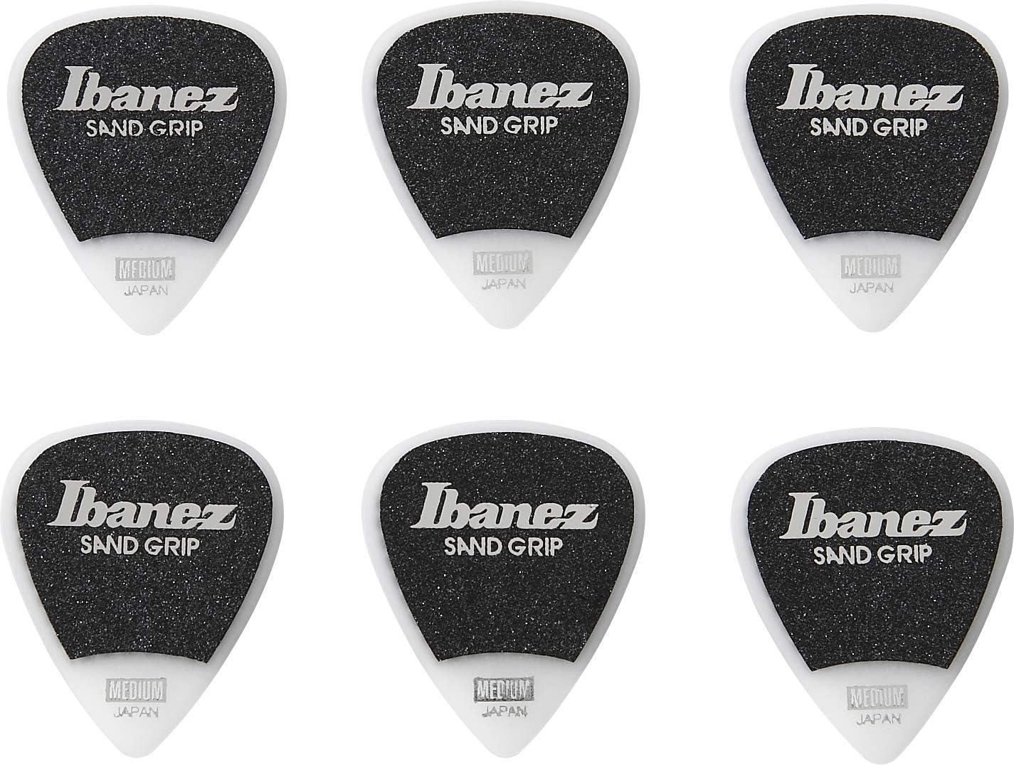 Ibanez PPA14MSG-WH - Juego de 6 púas para guitarra (planas), color blanco