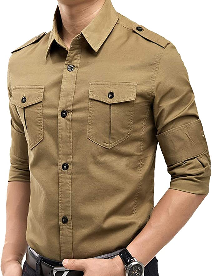 Outwears S - Camisa de manga larga para hombre, diseño ...