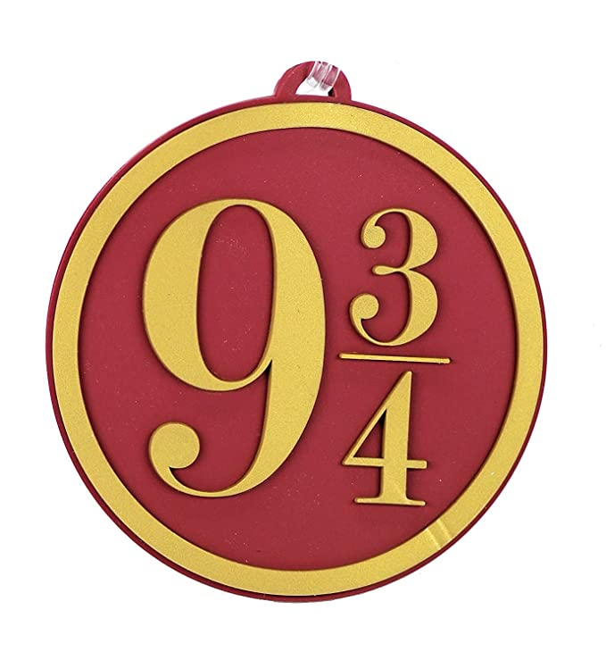 Amazon.com: Pack of 4 - Harry Potter Hogwarts Express 9 3/4 Heavy PVC Luggage Bag Tags: Office Products