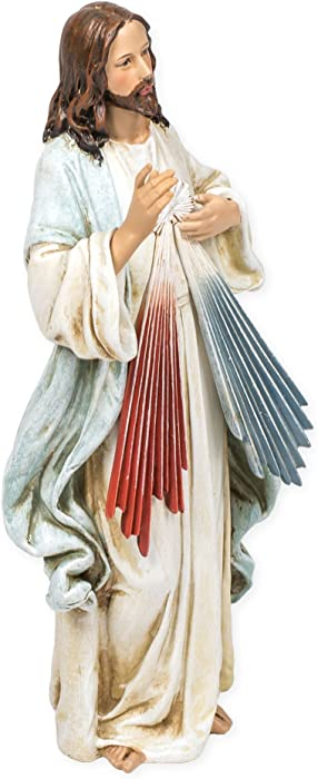 Jesus Christ Divine Mercy Renaissance Collection 9.5 Inch Resin Stone Statue Figurine