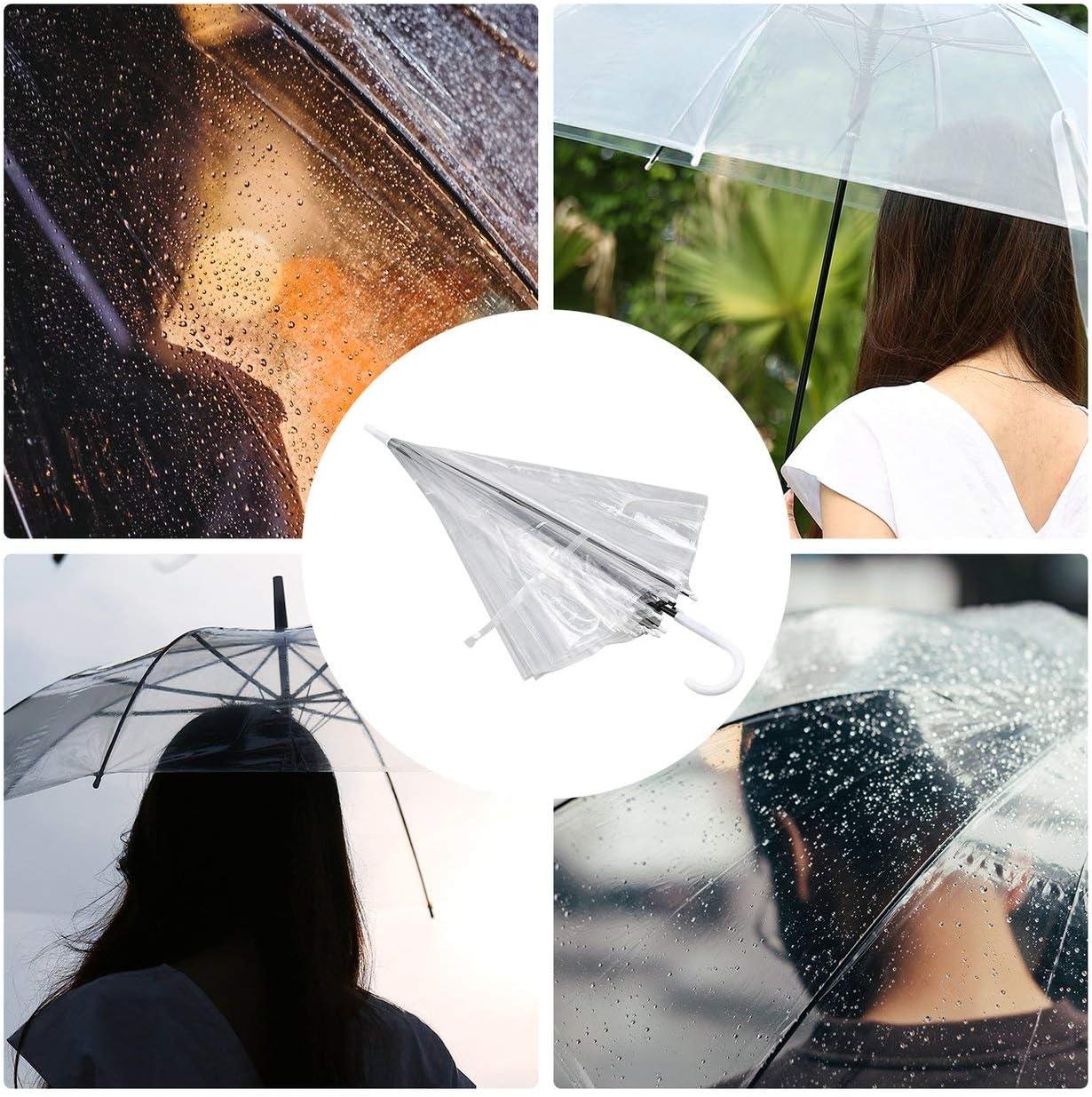 Ballylelly Winddicht mode transparent klar automatische regenschirm sonnenschirm f/ür hochzeitsbevorzugung stehen von innen nach au/ßen regen sch/ützen