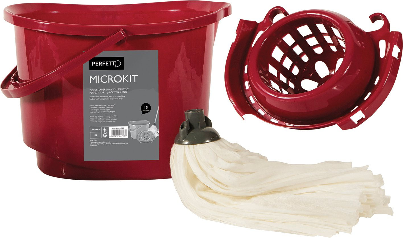 Perfetto Classic Bucket with Viscomopclassic Kit Capacity-15 Litre, Multi-Colour, One Size
