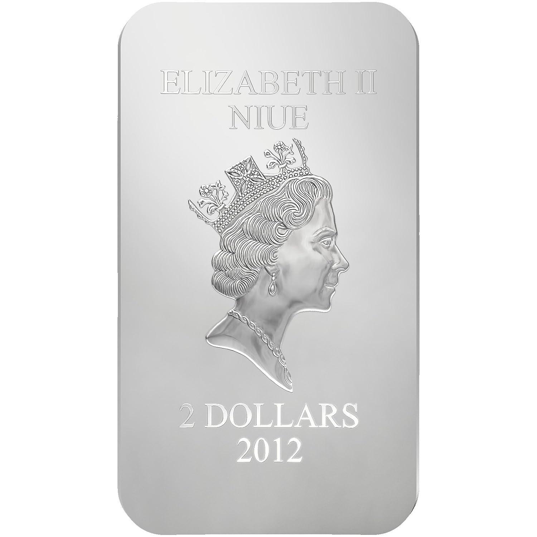Niue 2012 $2 Orthodox Shrines Catherine of Alexandria 1 Oz Silver Proof Coin