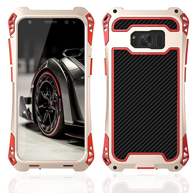 Samsung S8 Plus case,Feitenn Armor Aluminum Metal case Extreme Alloy Metal Bumper Hybrid Soft Rubber Military Heavy Duty Shockproof Hard Case For s8 ...
