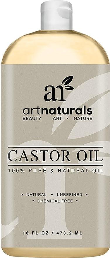 ArtNaturals Aceite de ricino 100% puro y natural 16 onzas - Mejor aceite de masaje