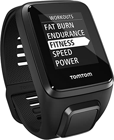 TomTom Spark 3 Music, GPS Fitness Watch, 3GB Music, Bluetooth Headphones (Black, Large)