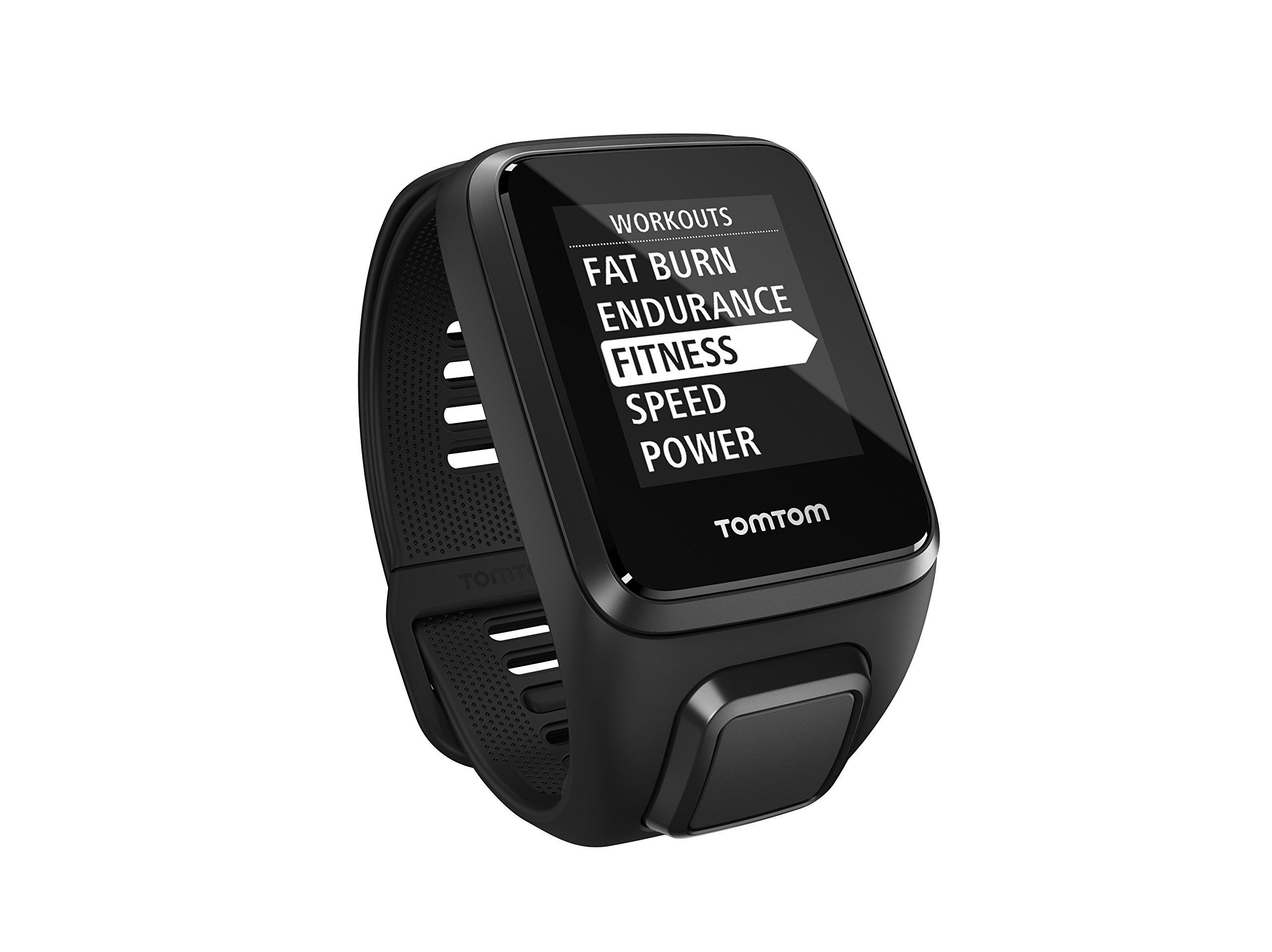 TomTom Spark 3 Music, GPS Fitness Watch, 3GB Music, Bluetooth Headphones (Black, Large)