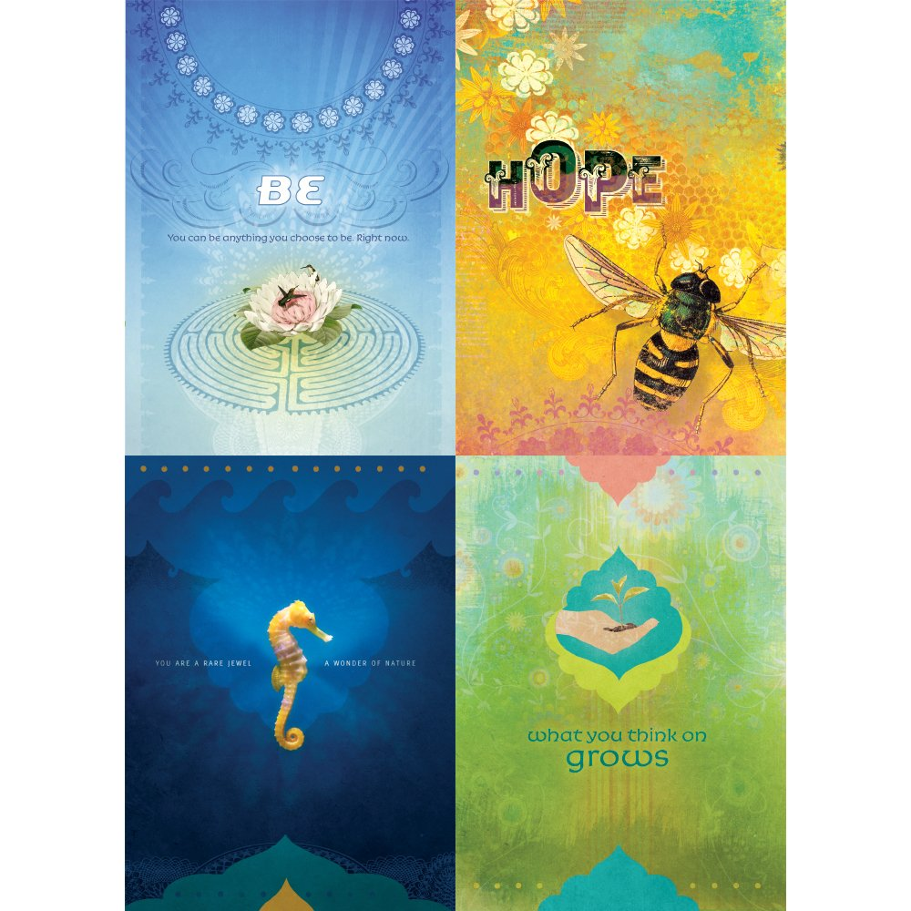 Tree-Free Greetings 1単語励ましカード詰め合わせ 5 x 7インチ カード8枚と封筒セット GA31516 B01M2YJJ2Z