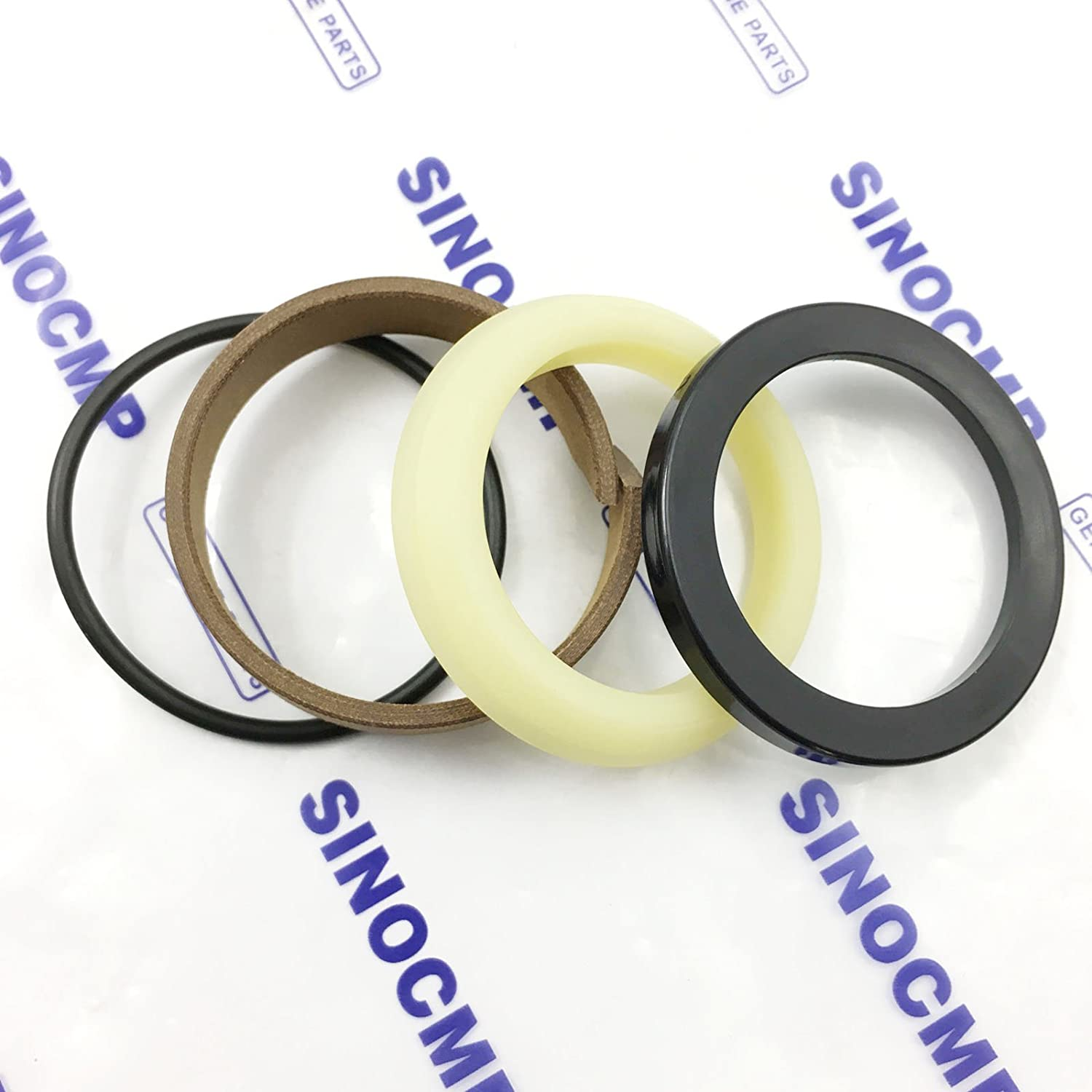 SINOCMP Repair Seal Kits for Komatsu PC200-3 PC200LC-3 Excavator Parts 3 Month Warranty 707-98-46270 Arm Hydraulic Cylinder Repair Seal Kit