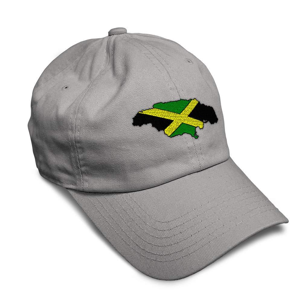 Custom Soft Baseball Cap Jamaica Flag Map Embroidery Dad Hats for Men /& Women