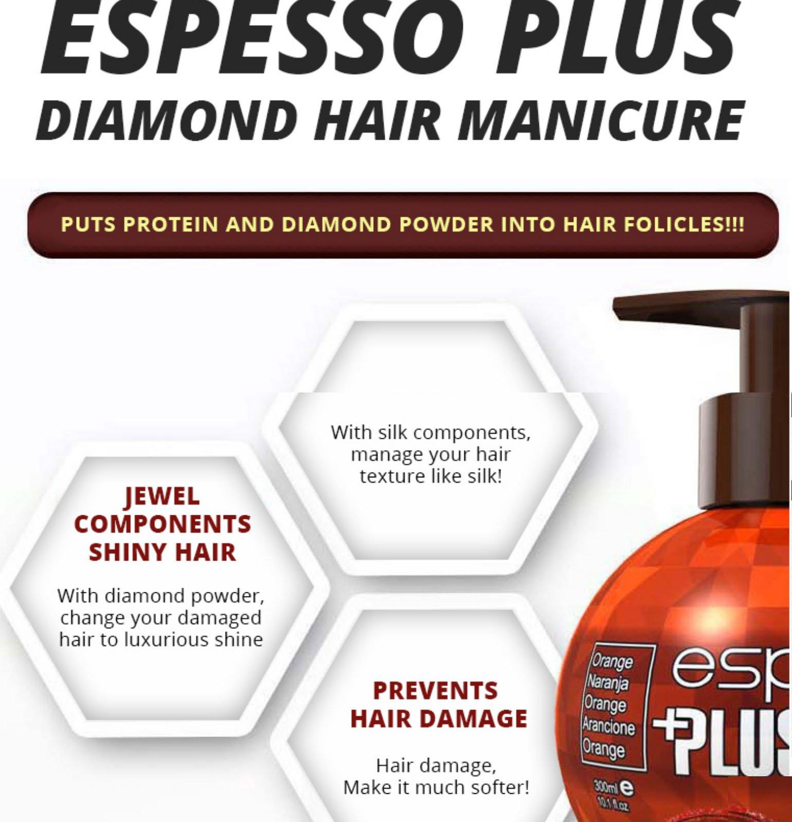 Hair Manicure Polish Color ESPESSO PLUS 50ml Diamond Powder Dark Brown Coating with Color K-Beauty MI Korea by ESPESSO PLUS (Image #6)