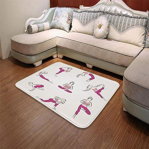 YOLIYANA tapete ultrasuave, Yoga, para Cocina, Sala de Estar ...