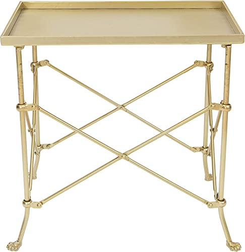 "Creative Co-op 20"" Metal Rectangle Table Occassional Furniture"