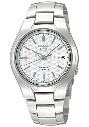 Amazon.com  Seiko Men s SNK601 Seiko 5 Automatic Silver Dial ... 68b60f3779