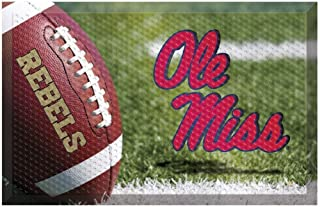 """product image for FANMATS 20625 Team Color 19"""" x 30"""" Ole Miss Scraper Mat (Ball)"""