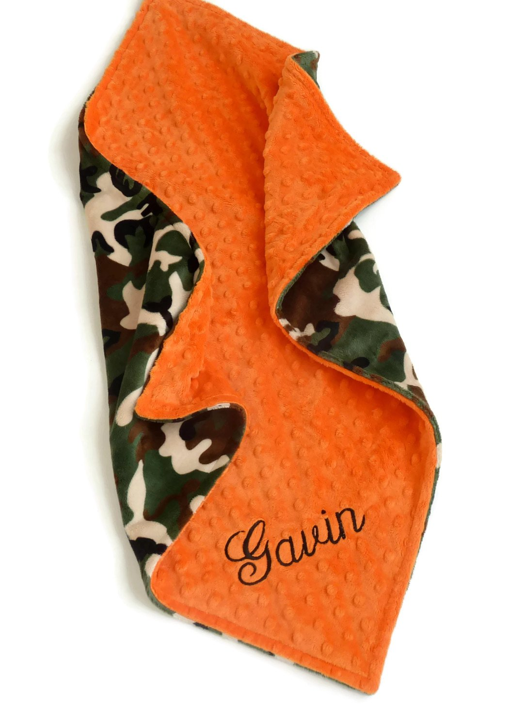 Personalize Minky Baby Blanket or Lovey - Camouflage Baby boy blanket