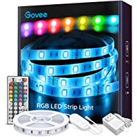 LED Strip Lights, Govee 16.4Feet RGB LED Light Strip with Remote and Controller, Upgraded Connection and Multi DIY Adjustable Brightness Led Kit, 5050 LED Tape Light for Home & Kitchen