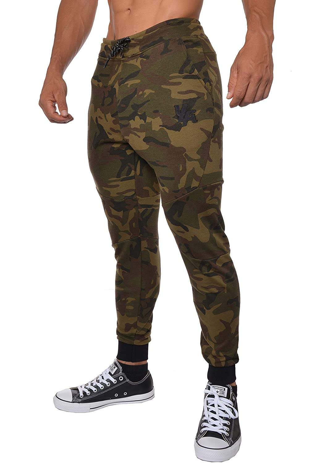 c1a84ad4c6123f YoungLA French Terry Cotton Sweatpants Jogger Pants at Amazon Men's Clothing  store: