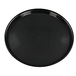 Ramddy Black Round Serving Trays, Set of 4
