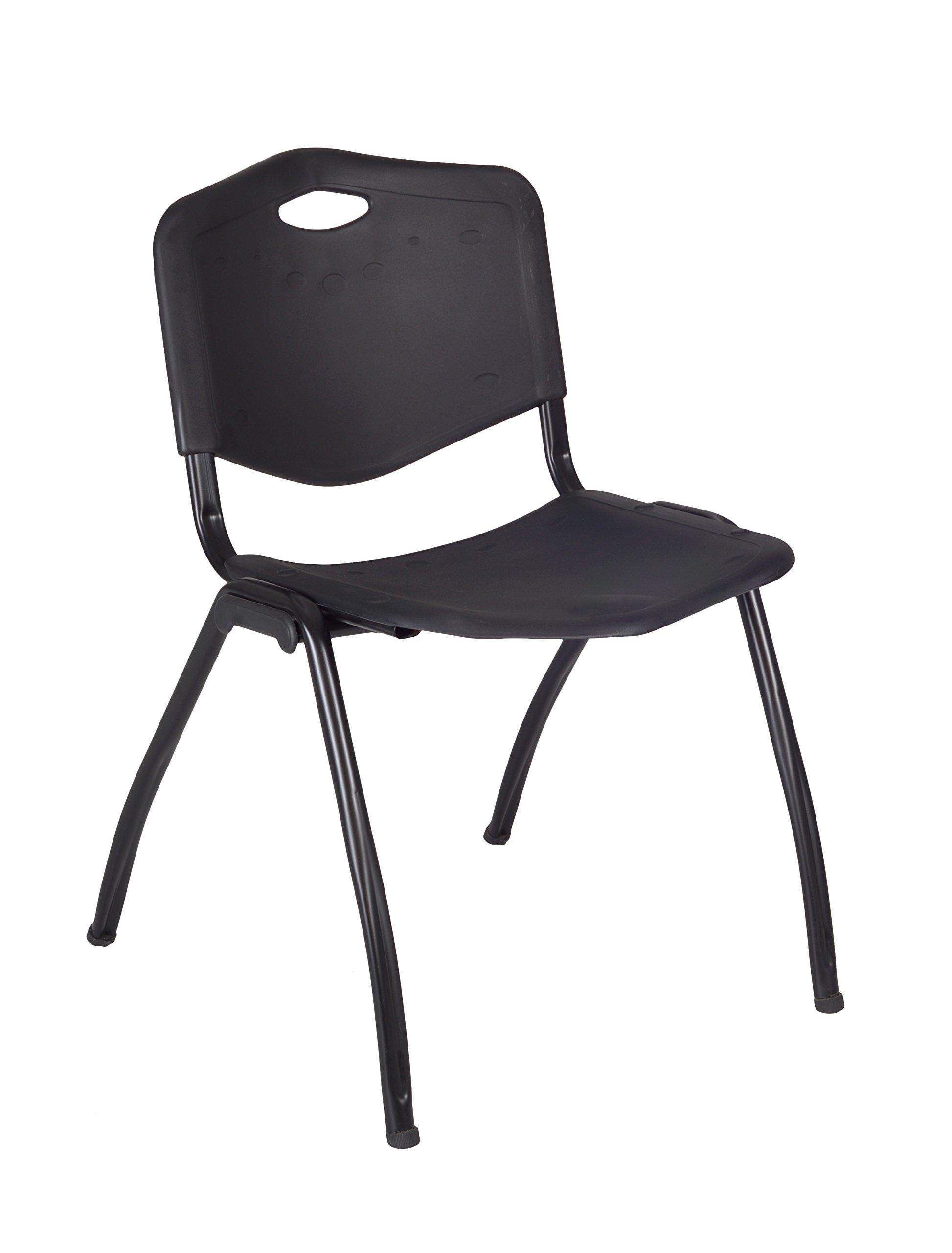Regency M Stack Chair, Black